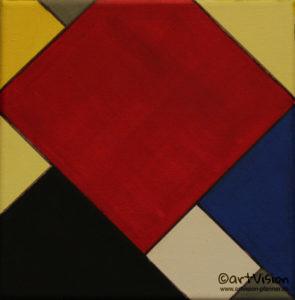 <span class='imageinfo'>nach Piet Mondrian</span></br><span class='imageinfo'>Technik: </span>Acryl auf Leinwand <span class='imageinfo'>Masse: </span>20x20cm <span class='imageinfo'>Jahr: </span>2008 <span class='imageinfo'>Künstler: </span>Matthias Pfanner <span class='imageinfo'>Preis: </span>verkauft